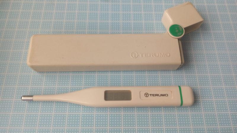 テルモ 電子体温計 C21の液晶側