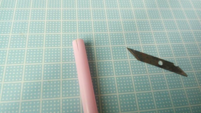 治具:パイプと刃の部分